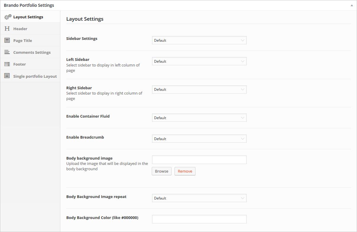 layout-portfolio-settings